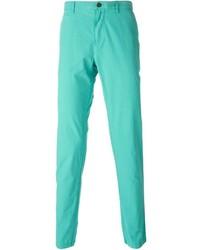 Pantalón chino en verde menta de Burberry