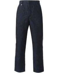 Pantalón chino estampado azul marino de Alexander McQueen
