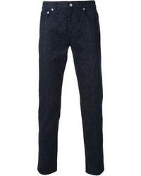 Pantalón chino estampado azul marino de Christopher Kane