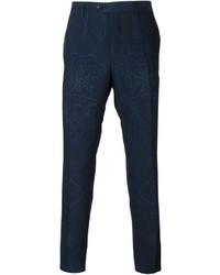 Pantalón chino estampado azul marino de Etro