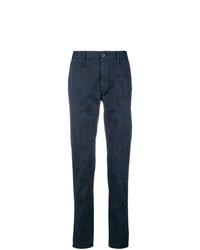 Pantalón chino estampado azul marino de Incotex