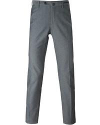 Pantalón chino estampado en gris oscuro