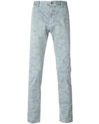Pantalón chino estampado gris