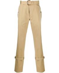 Pantalón chino marrón claro de Alexander McQueen