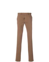 Pantalón chino marrón de Dell'oglio