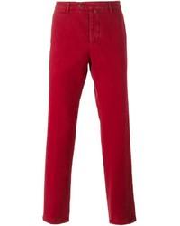 Pantalón chino rojo de Kiton