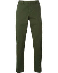 Pantalón chino verde oscuro de AMI Alexandre Mattiussi
