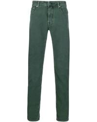 Pantalón chino verde oscuro de Jacob Cohen