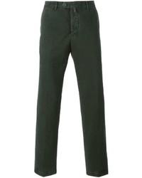 Pantalón chino verde oscuro de Kiton