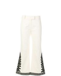 Pantalón de Campana Blanco de Tory Burch