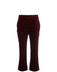 Pantalón de Campana Burdeos de Saint Laurent