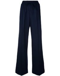 Pantalón de campana de lana azul marino de Twin-Set