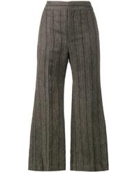 Pantalón de campana de lana en gris oscuro de Isabel Marant