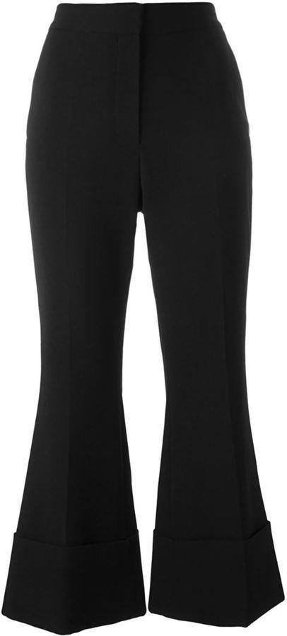 Pantalón de campana de lana negro de Stella McCartney