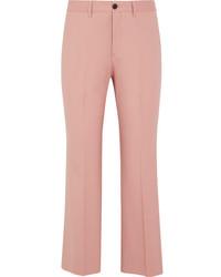 Pantalón de campana de lana rosado