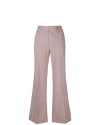 Pantalón de campana de lana rosado de See by Chloe
