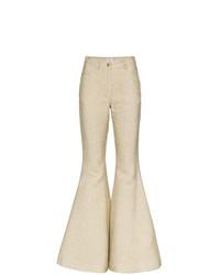 Pantalón de campana dorado de Rosie Assoulin