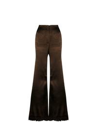 Pantalón de campana en marrón oscuro de Marni