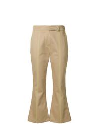 Pantalón de campana marrón claro de MSGM