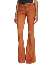 Pantalon de campana marron original 11351249