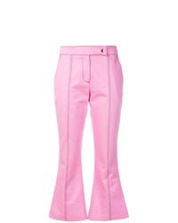 Pantalón de campana rosado de MSGM