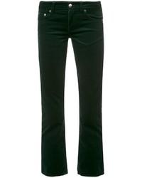 Pantalón de Campana Verde Oscuro de MM6 MAISON MARGIELA