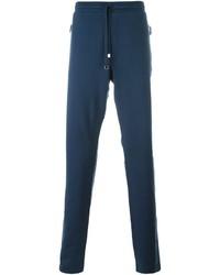 Pantalón de chándal bordado azul marino de Dolce & Gabbana
