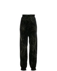 Pantalón de chándal con print de flores negro de Chloé