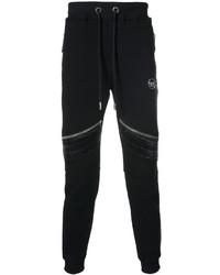Pantalón de Chándal de Cuero Negro de Philipp Plein