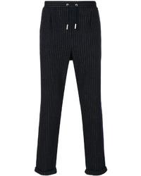 Pantalón de chándal de rayas verticales azul marino de Eleventy