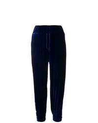 Pantalón de chándal de terciopelo azul marino de Almaz