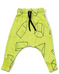 Pantalón de chándal en amarillo verdoso