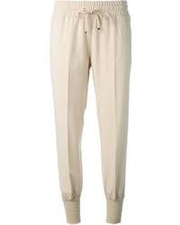 Pantalón de chándal en beige