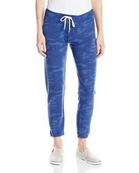 Pantalón de chándal estampado azul