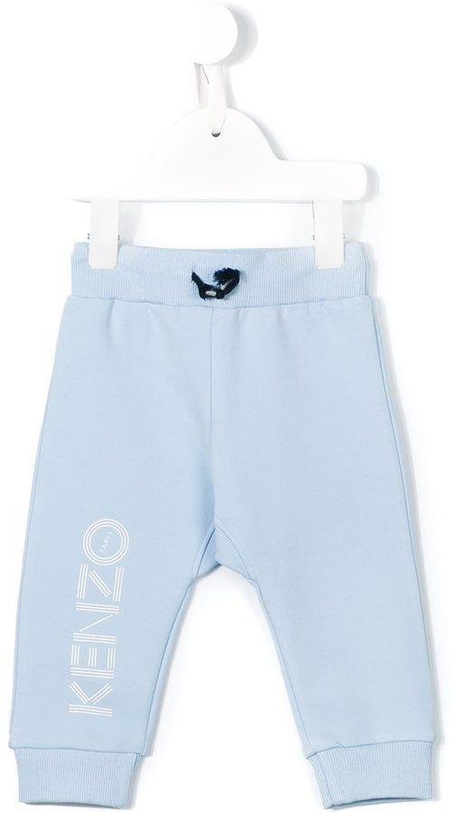Pantalón de chándal estampado celeste de Kenzo