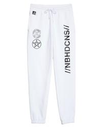 Pantalón de chándal estampado en blanco y negro