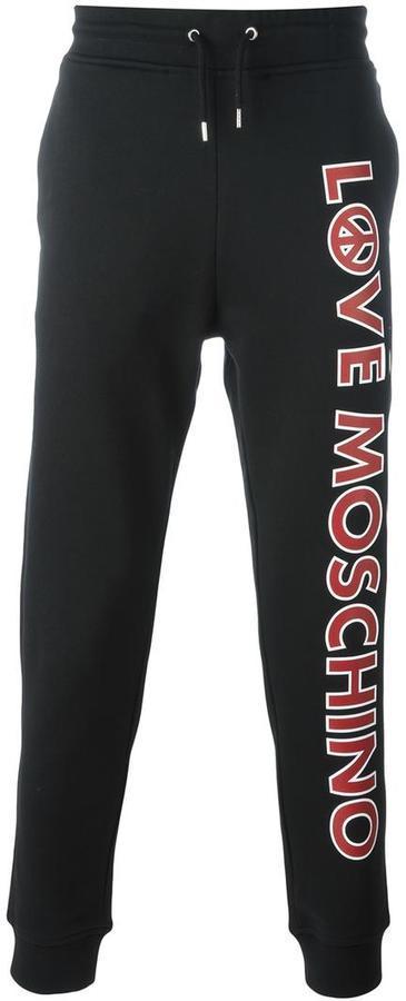 dfa0fc146df41 Pantalón de Chándal Estampado Negro de Love Moschino  dónde comprar ...