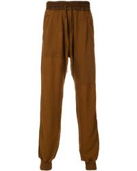 Pantalón de chándal mostaza de Haider Ackermann