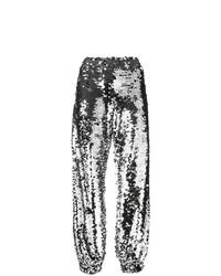Pantalón de chándal plateado de MSGM