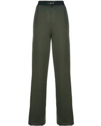 Pantalón de chándal verde oliva de Versace