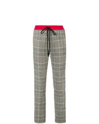 Pantalón de pinzas a cuadros gris de Ermanno Scervino