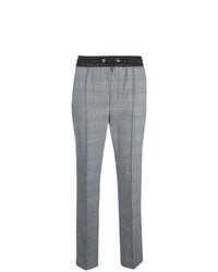 Pantalón de pinzas a cuadros gris de Hilfiger Collection