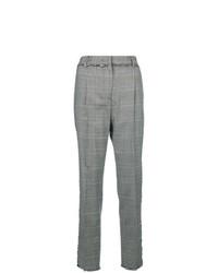 Pantalón de pinzas a cuadros gris de MSGM
