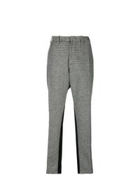 Pantalón de pinzas a cuadros gris de N°21