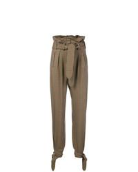 Pantalón de pinzas a cuadros marrón de ATTICO