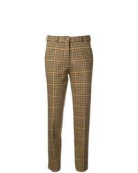 Pantalón de pinzas a cuadros marrón de Etro