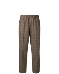 Pantalón de pinzas a cuadros marrón de Kiltie