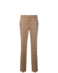 Pantalón de pinzas a cuadros marrón de Pt01