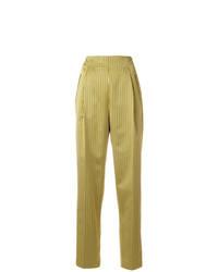 Pantalón de pinzas amarillo