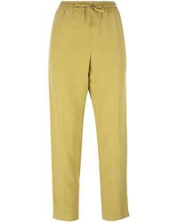 Pantalón de pinzas amarillo de Joseph